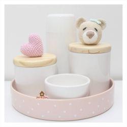 Kit Higiene - 5 peças - Ursa e Coração