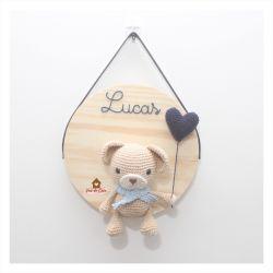 Ursinho  - com Coração - Círculo - Porta de Maternidade