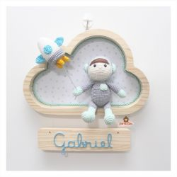 Astronauta - Nuvem P - Porta Maternidade
