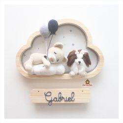 Ursinho Dormindo - Com Pet - Nuvem M - Porta Maternidade