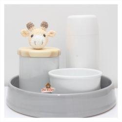 Girafinha - Kit Higiene - 4 peças - Bandeja Redonda