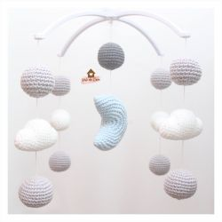 Móbile Lua + Nuvens + Bolinhas