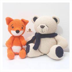 Dupla Urso + Raposa - Decoração