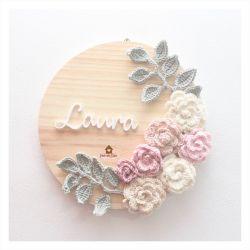 Floral  - Círculo - Porta de Maternidade
