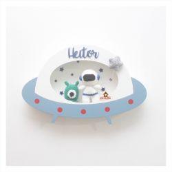 Astronauta + Alienígena - Disco Voador - Porta Maternidade