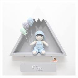Menininho - 3 balões - Montanha - Porta Maternidade