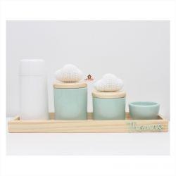 Nuvens - Kit Higiene Colorido - 5 peças