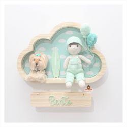 Menino com Pet + Prancha - Nuvem M - Porta Maternidade